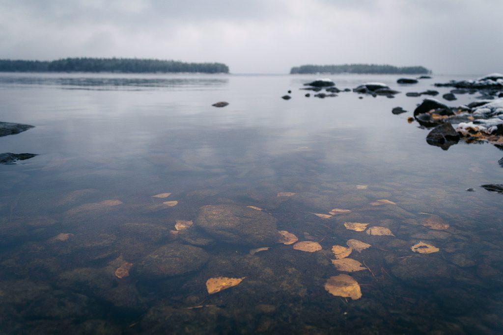 Syksyinen järvinäkymä.