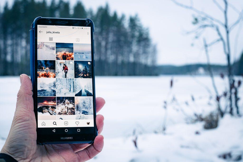 Julia Kivelän instagram fiidi.