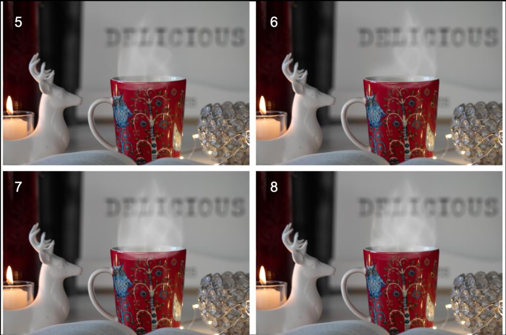Höyryn tekeminen kahvikuppiin Photoshopissa.