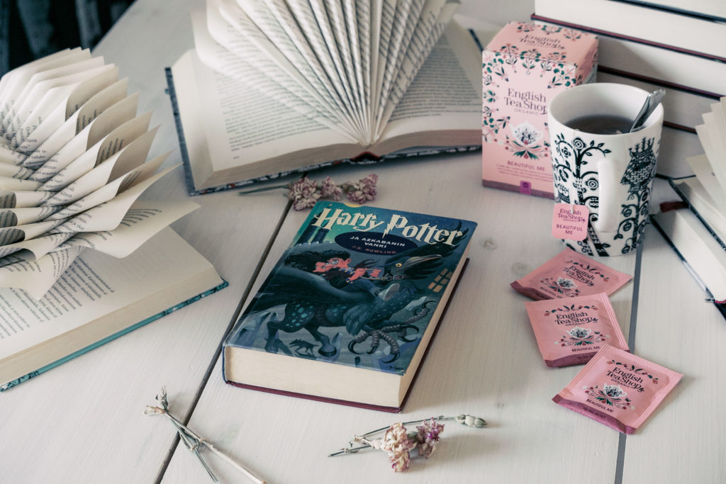 Harry Potter ja bookstagram kirjakuva.