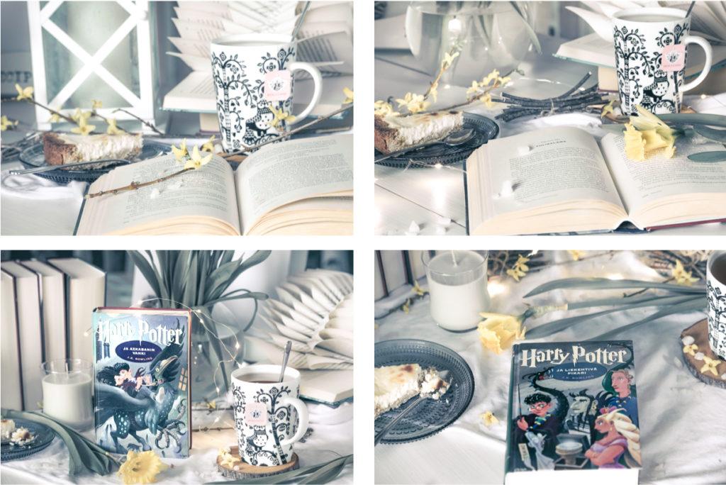 Bookstagram kirjakuva kollaasi.