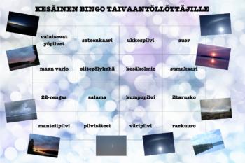 KESÄBINGO TAIVAANTÖLLÖTTÄJILLE