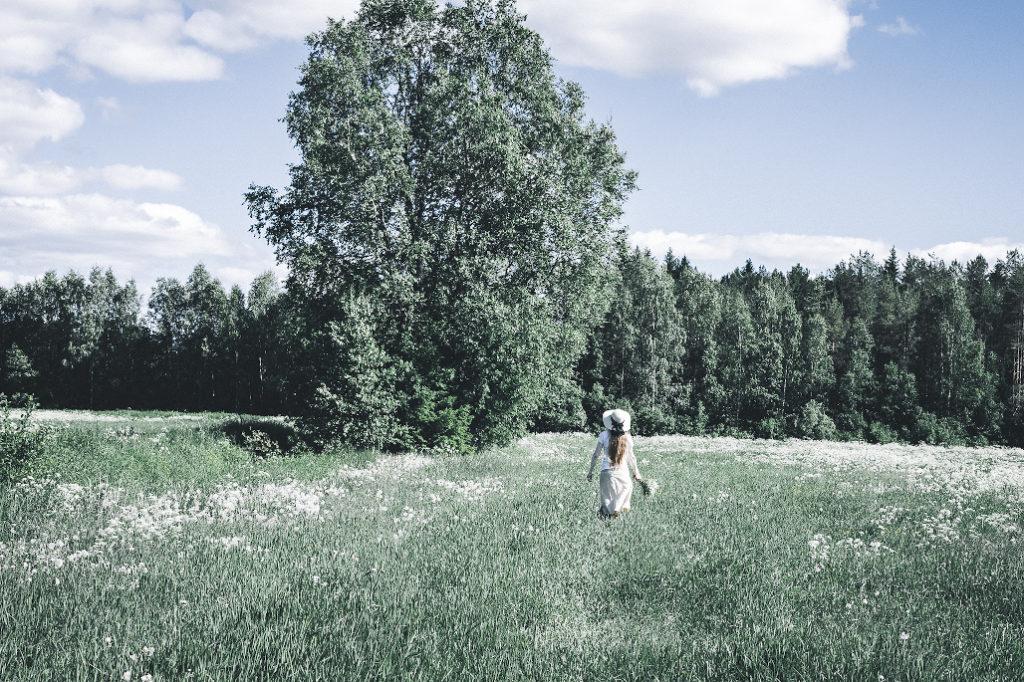 Kesäisellä pellolla.