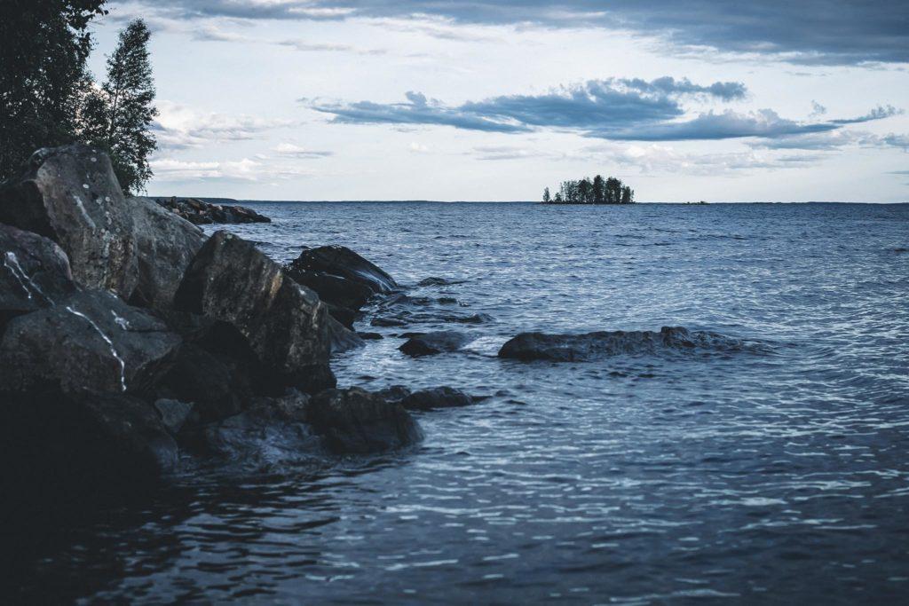Maisemaa Oulujärvellä.