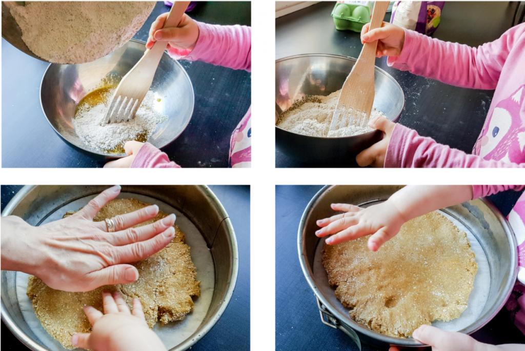 Lasten kanssa on kiva leipoa.