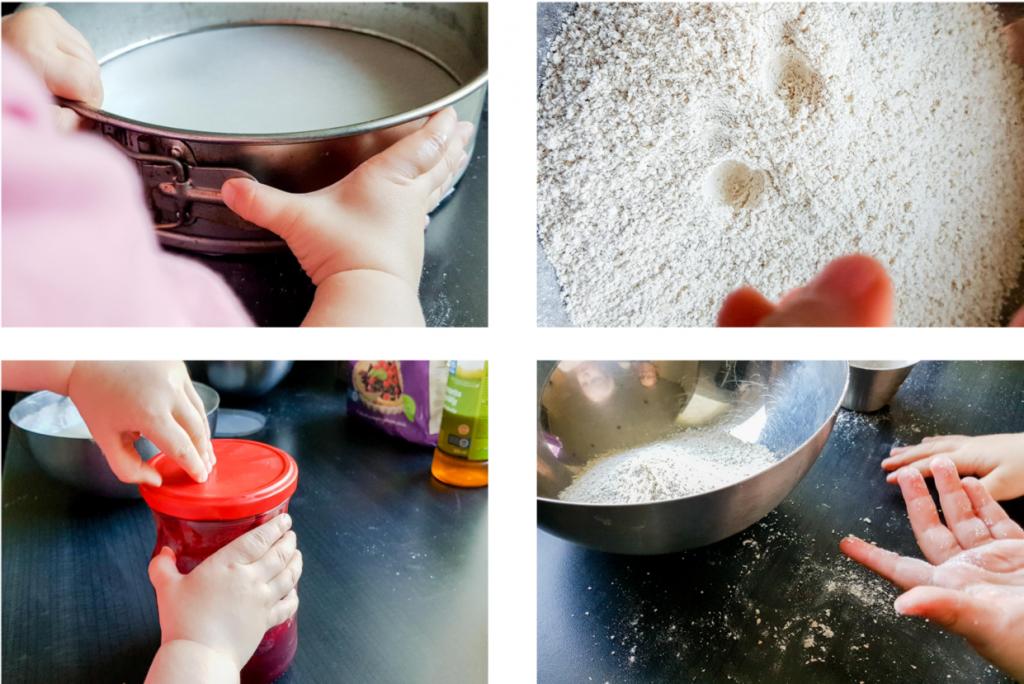 Lasten kanssa leipominen.