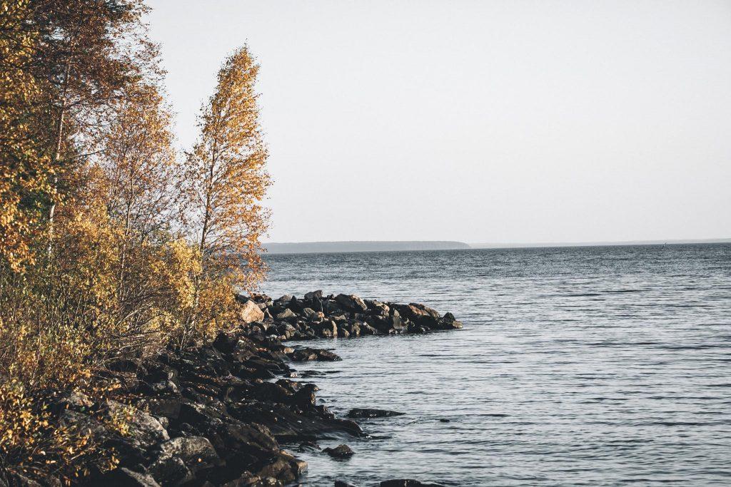 Syksyn tuntua Oulujärvellä.