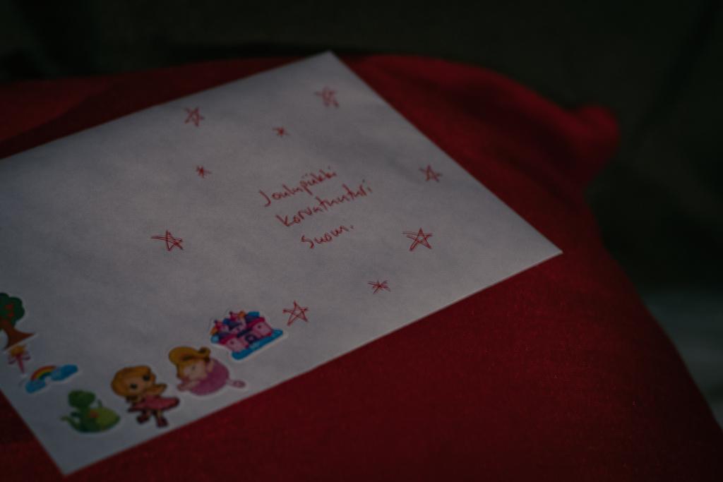 Kirje joulupukille.