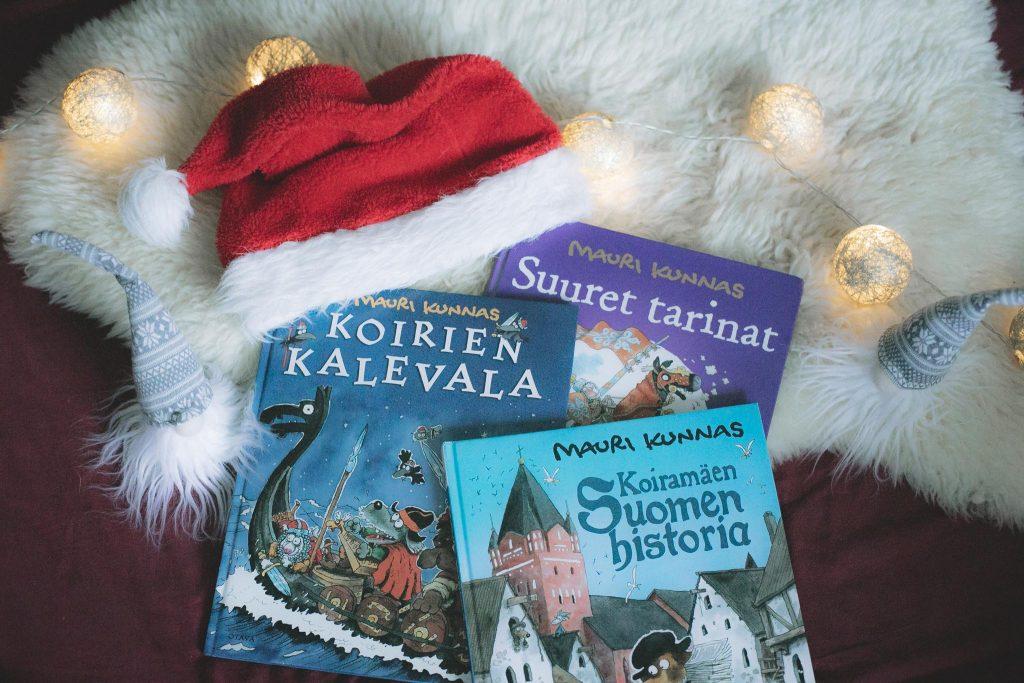 Mauri Kunnaksen kirjat joululahja vinkiksi.