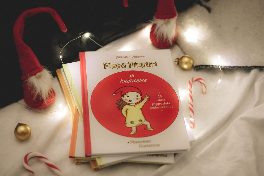 Pippa Pippuri ja Joulutaika -kirja.