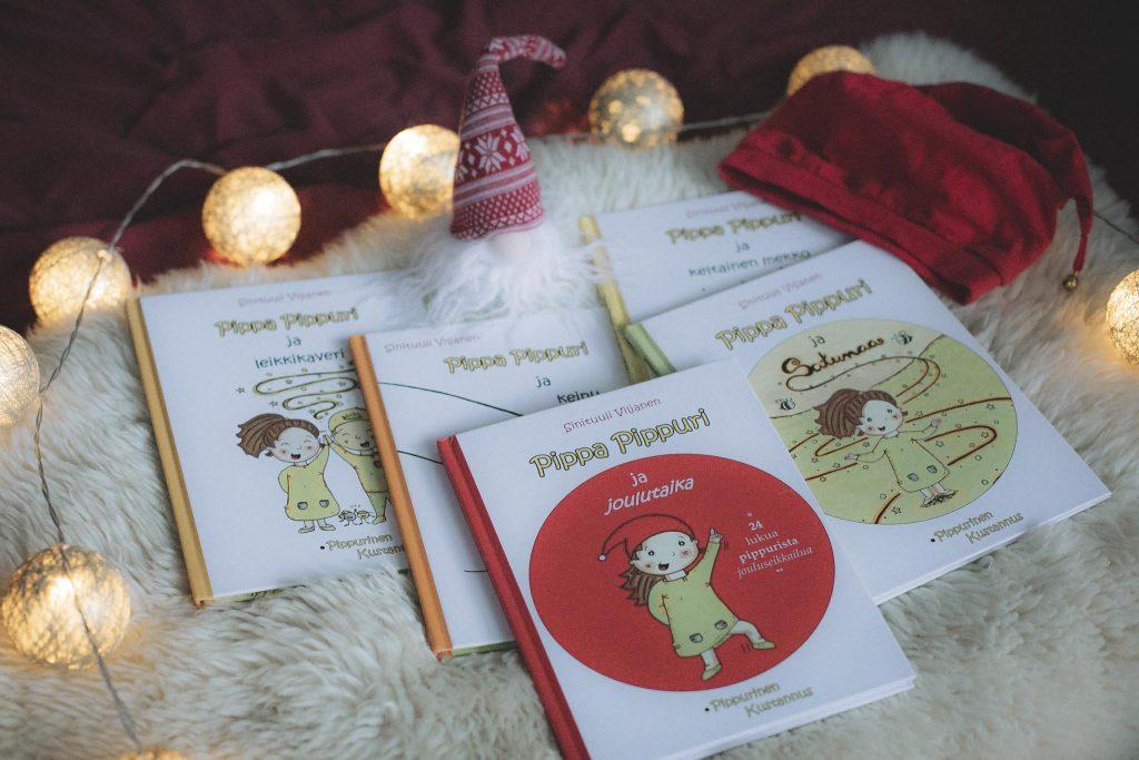 Pippa Pippurinen kirjat joululahja vinkiksi.