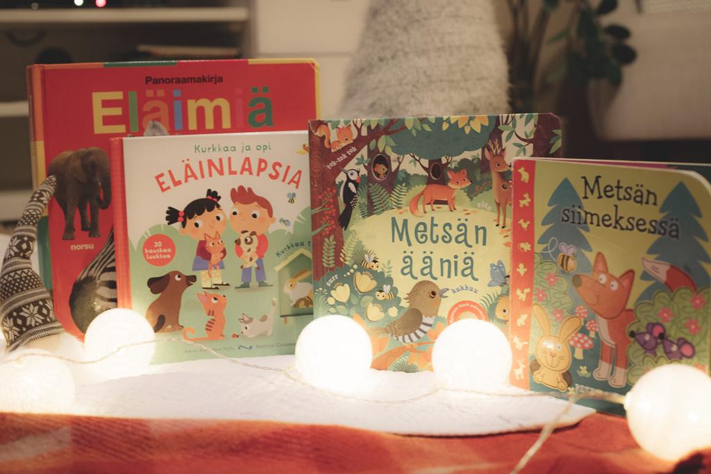 Luontoaiheiset lastenkirjat joululahja vinkiksi.