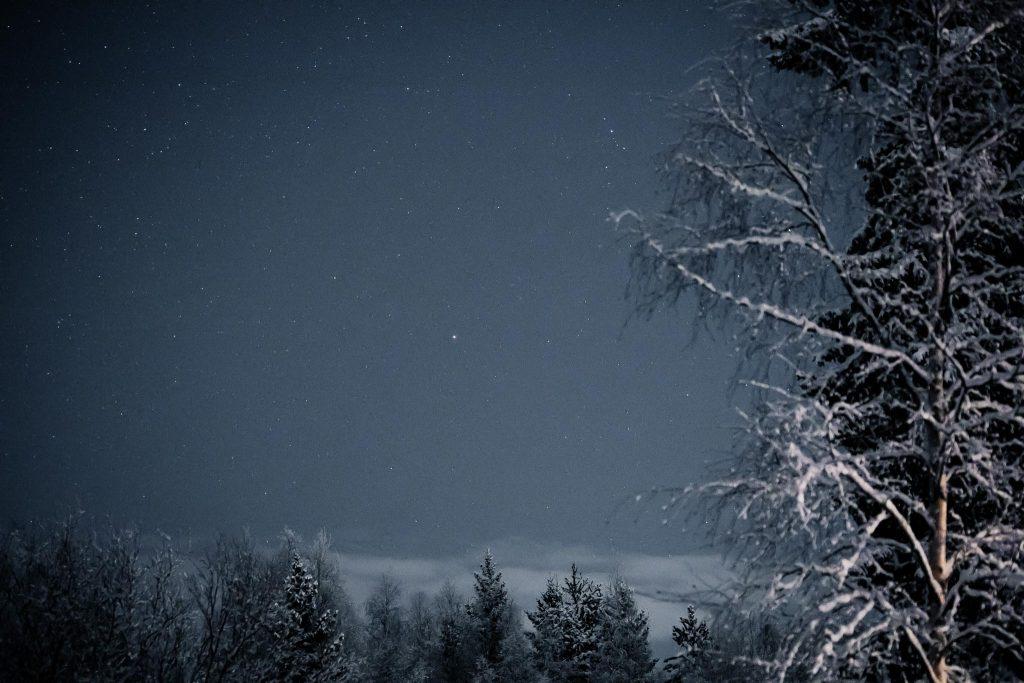 Tähtitaivas tammikuussa.