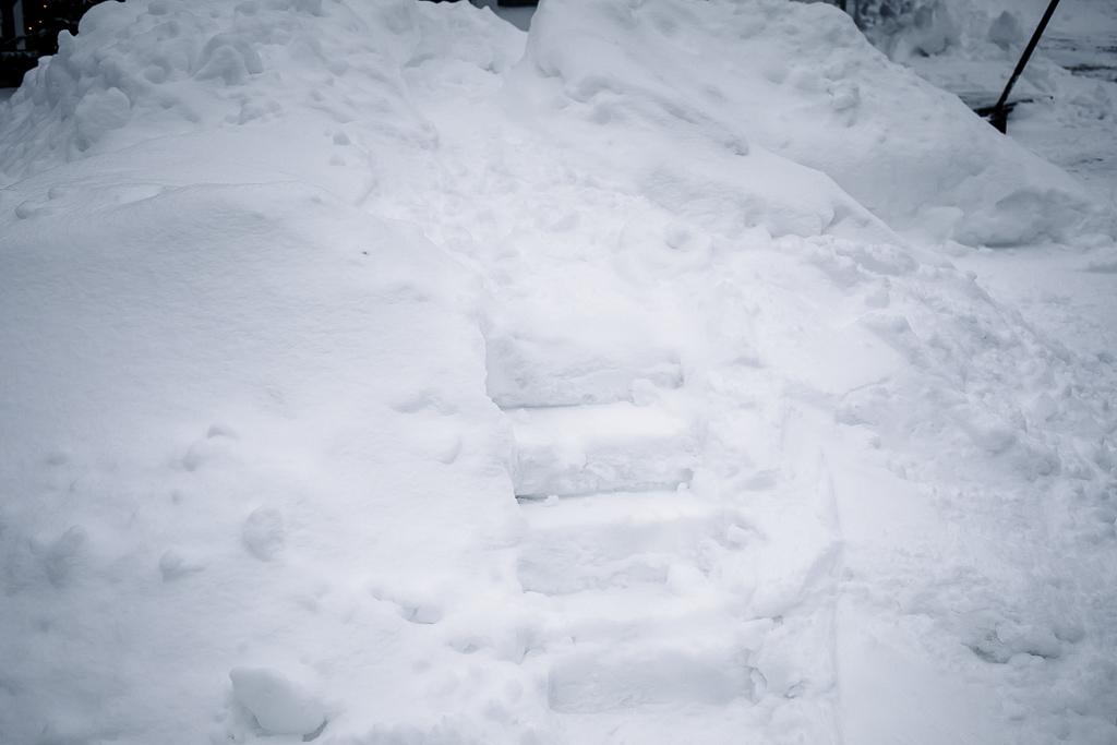 Lumilinnan portaat.