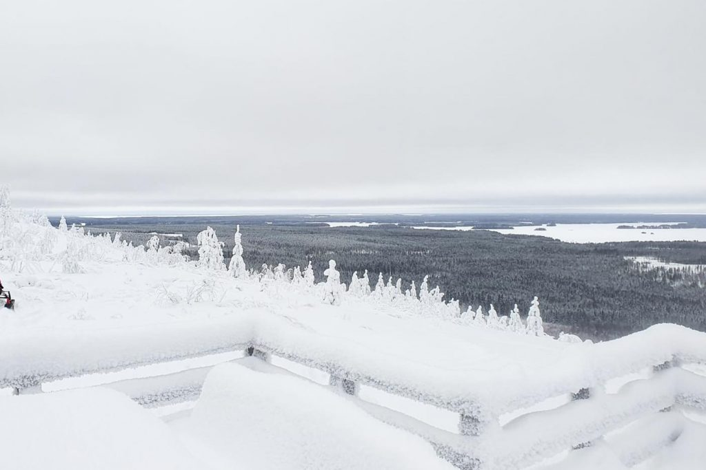 Näkymä Kivesvaaran huipulta Oulunjärvelle.