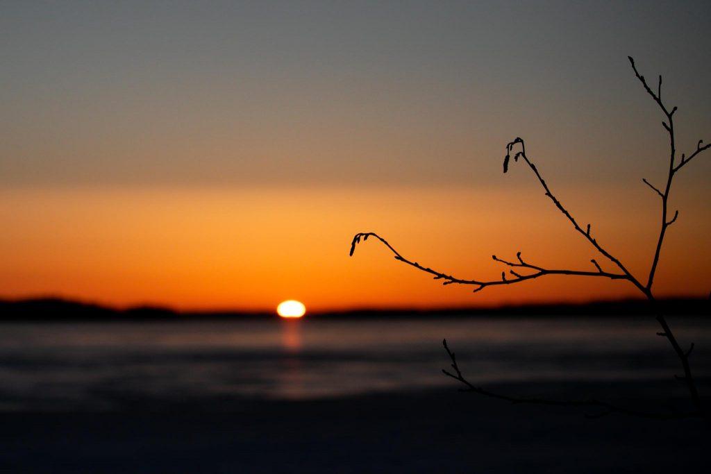 Kevättalven auringonnousu.