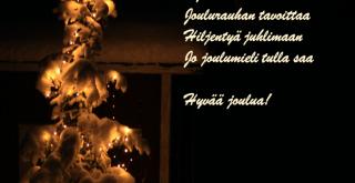 Hyvän joulun toivotus, jouluruno.